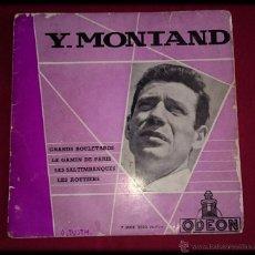 Discos de vinilo: Y. MONTAND - GRANDS BOULEVARDS -ODEON. Lote 48195277