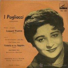 Discos de vinilo: I PAGLIACCI EP SELLO LA VOZ DE SU AMO AÑO 1959. Lote 48195853