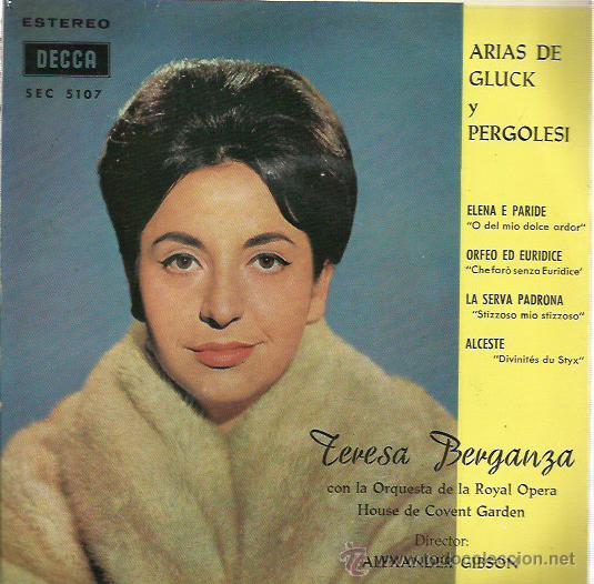 TERESA BERGANZA EP SELLO DECCA AÑO 1962 (Música - Discos de Vinilo - EPs - Étnicas y Músicas del Mundo)