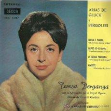Discos de vinilo: TERESA BERGANZA EP SELLO DECCA AÑO 1962. Lote 48196268