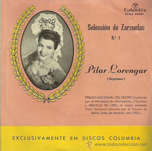 PILAR LORENGAR EP SELLO COLUMBIA (Música - Discos de Vinilo - EPs - Étnicas y Músicas del Mundo)