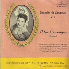 Discos de vinilo: PILAR LORENGAR EP SELLO COLUMBIA. Lote 48196318