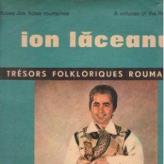 Discos de vinilo: LP ION LACEANU - TRESORS FOLKLORIQUES ROUMAINS. Lote 48207033