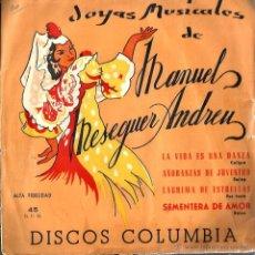Discos de vinilo: EP MANUEL MESEGUER ANDREU : LA VIDA ES UNA DANZA ( CALYPSO ) . Lote 48211547