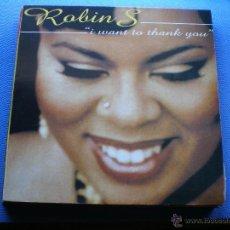 Discos de vinilo: ROBIN S - I WANT TO THANK YOU - MAXI - AÑO 1994 PEPETO. Lote 48213323