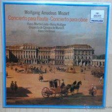Discos de vinilo: AMADEUS MOZART - CONCIERTO PARA FLAUTA - CONCIERTO PARA OBOE OQUESTA DE MUNICH ARCHIV 1981. Lote 48218100