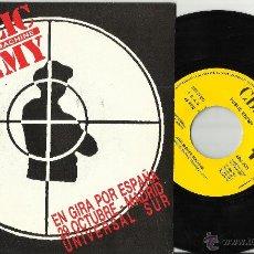 Discos de vinilo: PUBLIC ENEMY SINGLE PROMOCIONAL POR UNA SOLA CARA ANTI-NIGGER MACHINE.ESPAÑA 1990.GIRA ESPAÑA. Lote 103580580