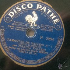 Discos de vinilo: DISCO PIZARRA SAETAS TARANTAS VALLEJO N1 GUITARRA RAMON MONTOYA. Lote 48222152