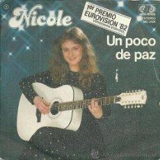 Discos de vinilo: NICOLE CANTA EN ESPAÑOL SINGLE SELLO JUPITER RECORDS AÑO 1982 EUROVISION ALEMANIA EDITADO EN ESPAÑA. Lote 48223274