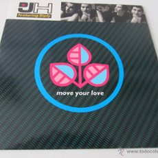 Discos de vinilo: D.J.H. (DJ H.) FEATURING STEFY - MOVE YOUR LOVE/I LIKE IT (CULTURE MIX) 1991 UK SINGLE. Lote 48224300