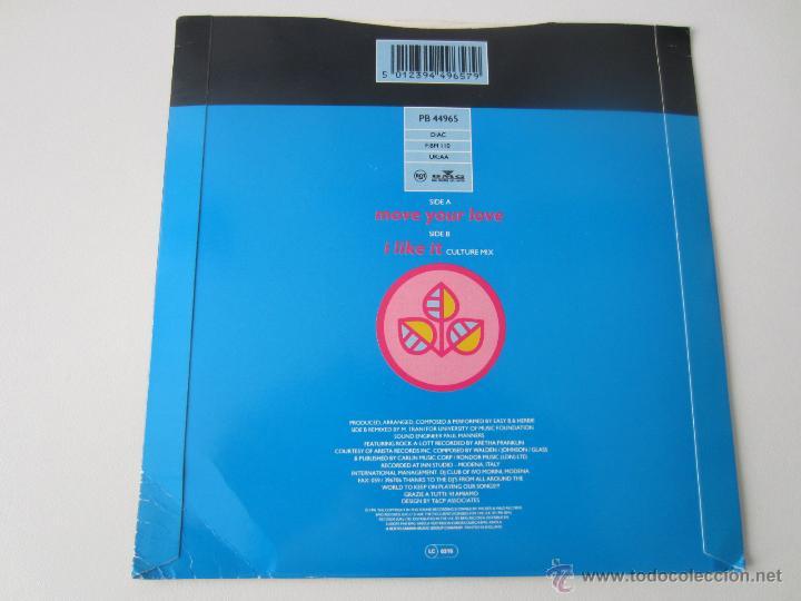 Discos de vinilo: D.J.H. (DJ H.) FEATURING STEFY - MOVE YOUR LOVE/I LIKE IT (CULTURE MIX) 1991 UK SINGLE - Foto 2 - 48224300