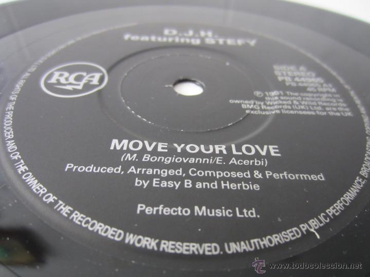 Discos de vinilo: D.J.H. (DJ H.) FEATURING STEFY - MOVE YOUR LOVE/I LIKE IT (CULTURE MIX) 1991 UK SINGLE - Foto 3 - 48224300