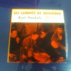 Discos de vinilo: LOS CAÑONES DE NAVARONE (4 TEMAS) MUY BUEN ESTADO EX-. Lote 48245291