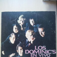 Discos de vinilo: LOS DOMINIC'S EN VIVO - LP HECHO EN MEXICO, PORTADA ABIERTA. Lote 48249563