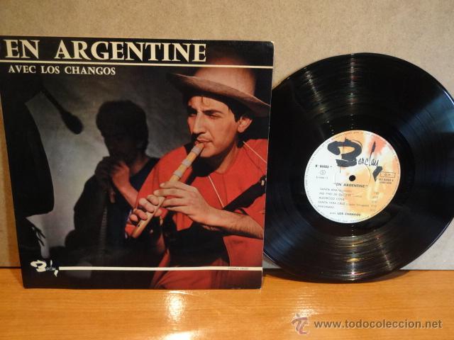 10 PULGADAS !! EN ARGENTINE - AVEC LOS CHANGOS. LP / BARCLAY-FRANCE - 25 CM. MUY RARO. ***/*** (Música - Discos - LP Vinilo - Grupos y Solistas de latinoamérica)