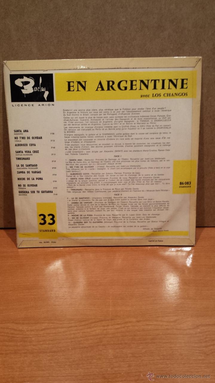 Discos de vinilo: 10 PULGADAS !! EN ARGENTINE - AVEC LOS CHANGOS. LP / BARCLAY-FRANCE - 25 CM. MUY RARO. ***/*** - Foto 2 - 48266795