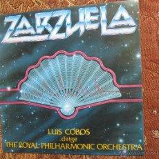 Discos de vinilo: LP DE VINILO DE LUIS COBOS DIRIGE THE ROYAL PHILHARMONIC ORCHESTRA -TITULO ZARZUELA-DEL 82- NUEVO . Lote 48275614