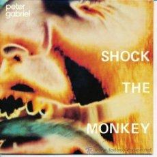 Discos de vinil: GENESIS, PETER GABRIEL / SHOCK THE MONKEY / SOFT DOG 1982 !! RARO CHARISMA ORG EDIT UK, TODO IMPECAB. Lote 48282470