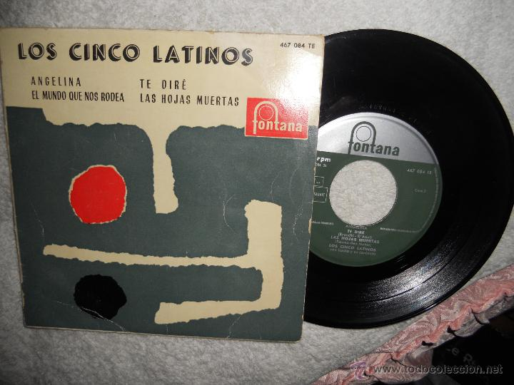 LOS 5 LATINOS-EP ANGELINA +3-1959 (Música - Discos de Vinilo - EPs - Grupos y Solistas de latinoamérica)