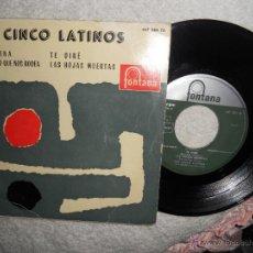 Discos de vinilo: LOS 5 LATINOS-EP ANGELINA +3-1959. Lote 48284501