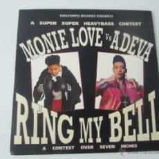 Discos de vinilo: MONIE LOVE VS ADEVA - RING MY BELL (2 VERSIONES) 1990 UK SINGLE. Lote 48289855