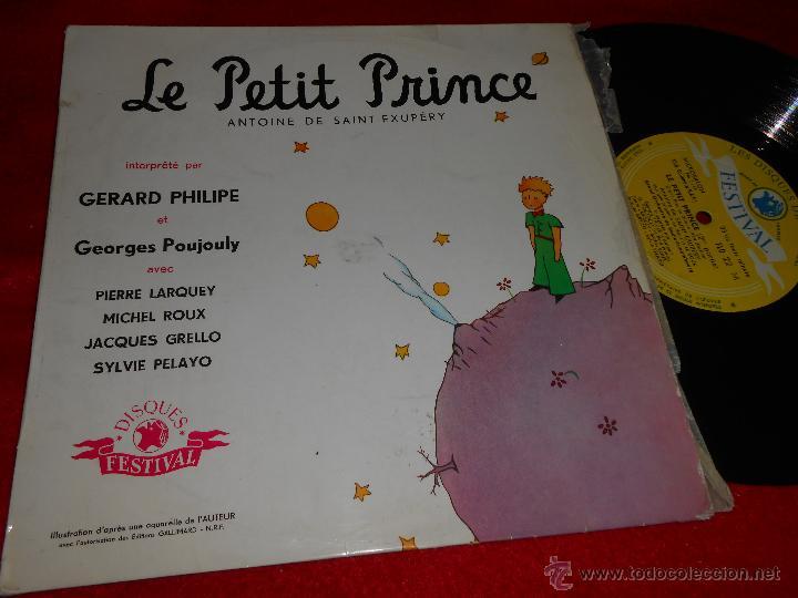 LE PETIT PRINCE GERARD PHILIPE&GEORGES POUJOULY ANTOINE SAINT EXUPERY 10 PULGADAS 25 CMS FRANCE (Música - Discos - LP Vinilo - Otros estilos)