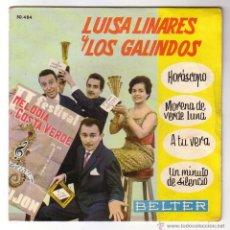 Discos de vinilo: LUISA LINARES CON LOS GALINDOS.EP BELTER.1961. Lote 48295165
