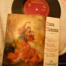 Discos de vinilo: FIESTA FLAMENCA EP EL PERLO MARUJITA BAENA.... Lote 109440458