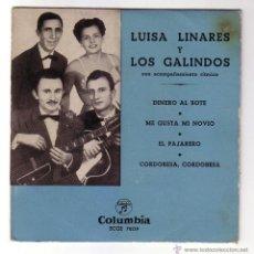 Discos de vinilo: LUISA LINARES CON LOS GALINDOS.EP COLUMBIA.AÑOS 50.. Lote 48296353