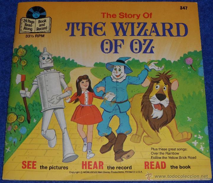 EL MAGO DE OZ - SEE HEAR READ - WALT DISNEY - DISNEYLAND RECORDS (1978) ¡IMPECABLE! (Música - Discos - Singles Vinilo - Música Infantil)