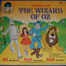 Discos de vinilo: EL MAGO DE OZ - SEE HEAR READ - WALT DISNEY - DISNEYLAND RECORDS (1978) ¡IMPECABLE!. Lote 48304408