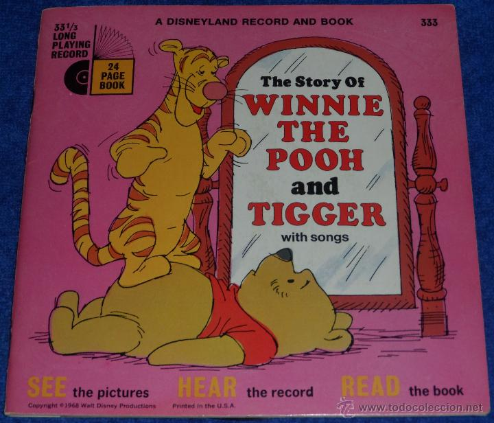 LA HISTORIA DE WINNIE THE POOH Y TIGGER - SEE HEAR READ - WALT DISNEY - DISNEYLAND RECORDS (1968) (Música - Discos - Singles Vinilo - Música Infantil)