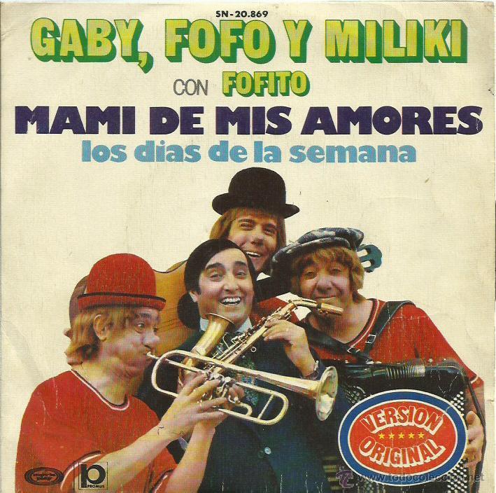 GABY, FOFO Y MILIKI CON FOFITO SINGLE SELLO MOVIE PLAY AÑO 1974 (Música - Discos - Singles Vinilo - Música Infantil)
