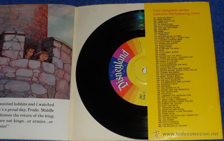 Discos de vinilo: El reotorno del Rey - See Hear Read - Walt Disney - Disneyland Records (1980) - Foto 3 - 48307367