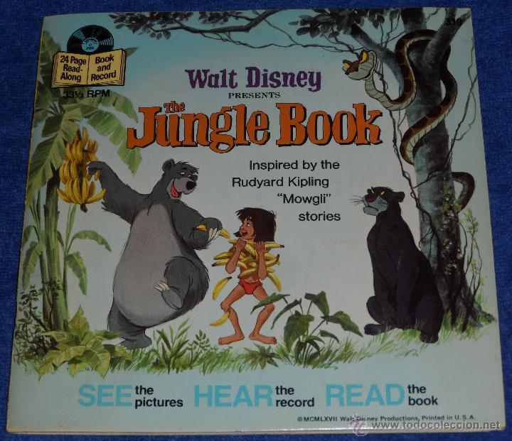 EL LIBRO DE LA SELVA - SEE HEAR READ - WALT DISNEY - DISNEYLAND RECORDS (1967) (Música - Discos - Singles Vinilo - Música Infantil)