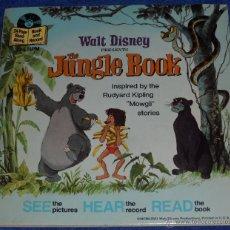 Discos de vinilo: EL LIBRO DE LA SELVA - SEE HEAR READ - WALT DISNEY - DISNEYLAND RECORDS (1967). Lote 48307414