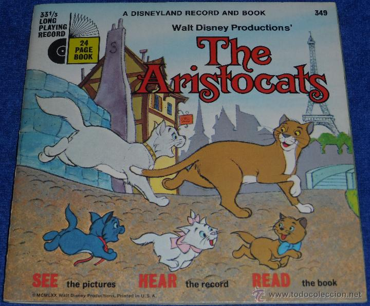 Discos de vinilo: Los Aristogatos - See Hear Read - Walt Disney - Disneyland Records (1970) - Foto 1 - 48307605