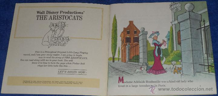 Discos de vinilo: Los Aristogatos - See Hear Read - Walt Disney - Disneyland Records (1970) - Foto 2 - 48307605