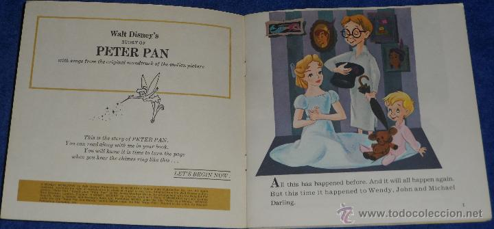 Discos de vinilo: Peter Pan - See Hear Read - Walt Disney - Disneyland Records (1977) - Foto 2 - 48307627