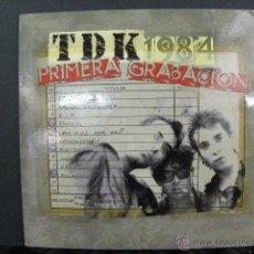 Discos de vinilo: TDK 1984 PRIMERA GRABACIÓN. Lote 48312819