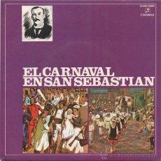 Discos de vinilo: BANDA DE TAMBORES Y BARRILES DE LA FANFARE DE GAZTELUBIDE - EL CARNAVAL EN SAN SEBASTIAN. Lote 48315581