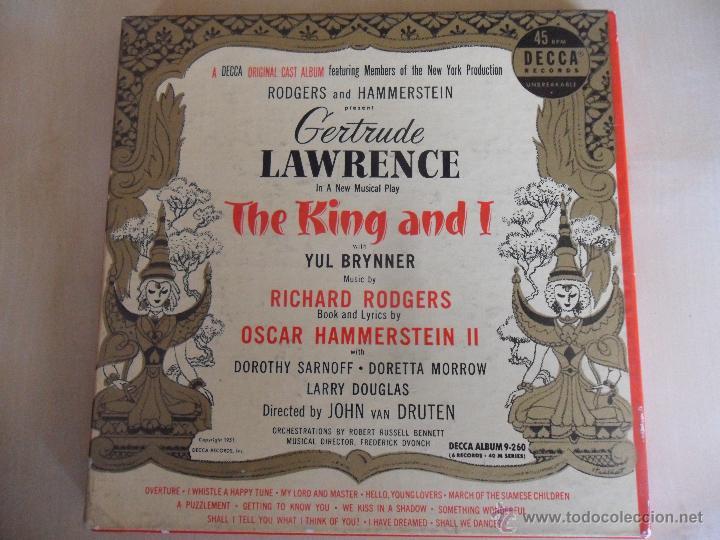 THE KING AND I. YUL BRYNNER. MUSICA DE RICHARD RODGERS. LETRAS DE OSCAR HAMMERSTEIN II. ESTUCHE CON (Música - Discos - Singles Vinilo - Bandas Sonoras y Actores)