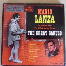 Discos de vinilo: MARIO LANZA. THE GREAT CARUSO. ESTUCHE CON 4 SINGLES. RCA VICTOR, ESTADOS UNIDOS, AÑOS 50. 220 GRAMO. Lote 48317398