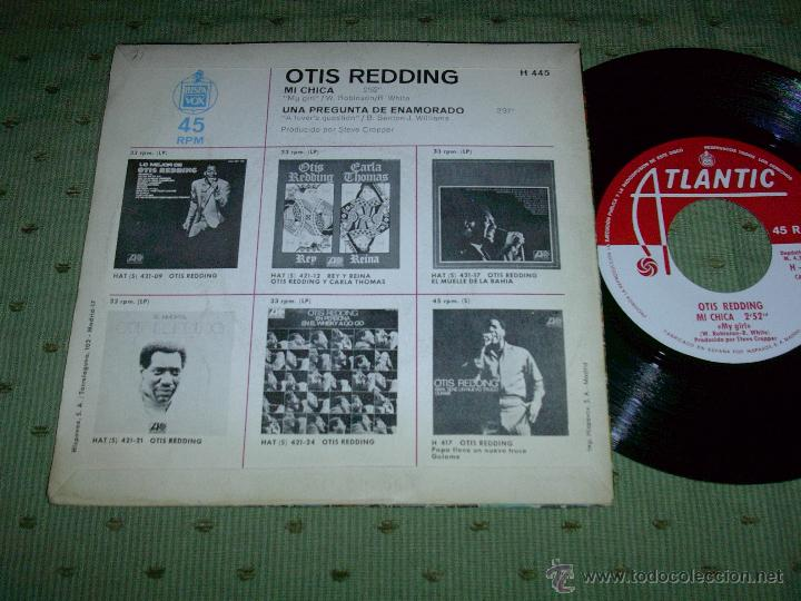 Discos de vinilo: OTIS REDDING MI CHICA 1969 SINGLE - Foto 2 - 48317947