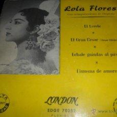 Discos de vinilo: LOLA FLORES - EL LERELE/ ECHALE GUINDAS AL PAVO/ EL GRAN CESAR +1 - EP 50'S. Lote 48319850