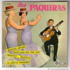 Discos de vinilo: LAS PAQUIRAS.EP SAEF.1962. Lote 48323342