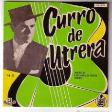 Discos de vinilo: CURRO DE UTRERA.EP HISPAVOX.1959. Lote 48324617