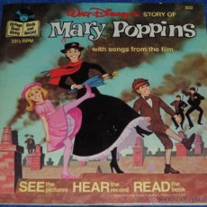 Discos de vinilo: MARY POPPINS - SEE HEAR READ - WALT DISNEY - DISNEYLAND RECORDS (1977). Lote 48326211