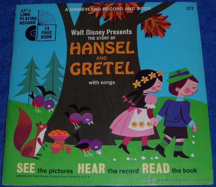 HANSEL Y GRETEL - SEE HEAR READ - WALT DISNEY - DISNEYLAND RECORDS (1967) (Música - Discos - Singles Vinilo - Música Infantil)