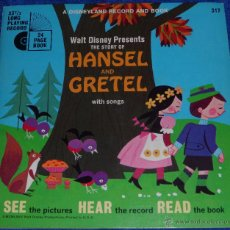 Discos de vinilo: HANSEL Y GRETEL - SEE HEAR READ - WALT DISNEY - DISNEYLAND RECORDS (1967). Lote 48326312